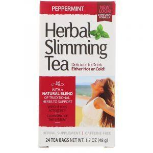 Чай для похудения (мята), Herbal Slimming Tea, 21st Century, 24 пак. (45 г) (Default)