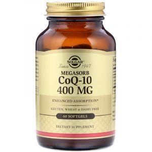 Коэнзим Q10 (Coenzyme Q-10), Solgar, 400 мг, 60 капсул (Default)