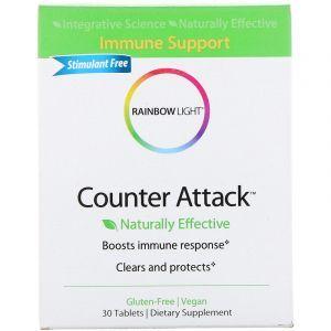 Иммунная смесь (стимулирующая), Counter Attack, Rainbow Light, 30 таб. (Default)