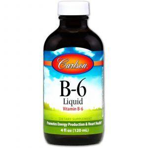 Витамин В6 (пиридоксин), Vitamin B6, Carlson Labs, 120 мл