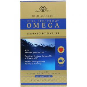 Жир из лосося аляскинского (Full Spectrum Omega), Омега, Solgar, 120 капсул (Default)