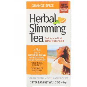 Чай для похудения (апельсин), Herbal Slimming Tea, 21st Century, без кофеина, 24 пак., (45 г) (Default)