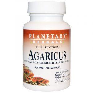 Агарикус, Agaricus, Planetary Herbals, 500 мг, 60 капсул (Default)