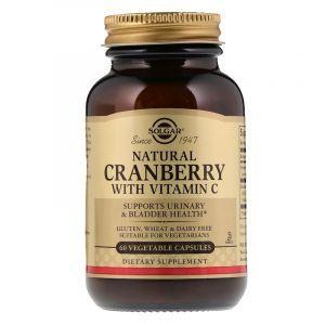 Клюква + витамин С, Cranberry Vitamin C, Solgar, 60 капсул (Default)