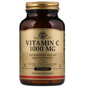 Витамин С, Vitamin C, Solgar, 1000 мг, 90 таблеток (Default)