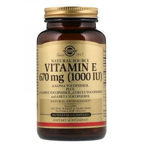 Витамин Е, Vitamin E, Solgar, 1000 МЕ, 100 капсул (Default)