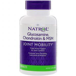 Глюкозамин хондроитин МСМ, Glucosamine Chondroitin MSM, Natrol, 90 таблеток