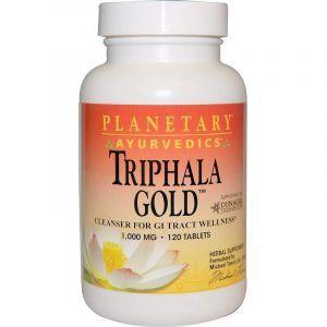 Трифала (Triphala Gold), Planetary Herbals, аюрведическая, золотистая, 1000 мг, 120 таблеток (Default)