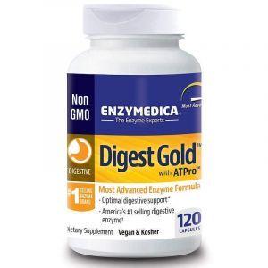 Пищеварительные ферменты, Digest Gold with ATPro, Enzymedica, 120 капсул (Default)