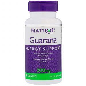 Витамины для мозга (Гуарана), Guarana, Natrol, 90 капсул