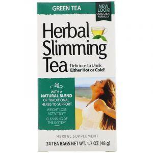 Зеленый чай для похудения, Herbal Slimming Tea, 21st Century, 24 пак., (45 г) (Default)