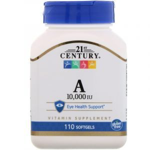 Витамин A, Vitamin A, 21st Century, 10,000 МЕ, 110 капсул (Default)