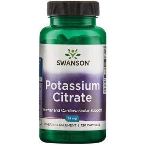 Калий цитрат, Ultra Potassium Citrate, Swanson, 99 мг, 120 капсул