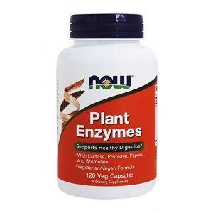 Энзимы, Plant Enzymes, Now Foods, ферменты, 120 капсул