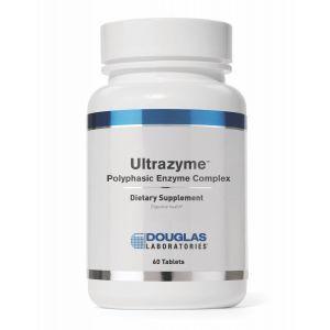 Ферментный комплекс, поддержка пищеварения, Ultrazyme, Douglas Laboratories, 60 таблеток