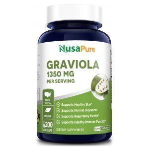 Гравиола, Graviola, NusaPure, 1350 мг, 200 вегетарианских капсул
