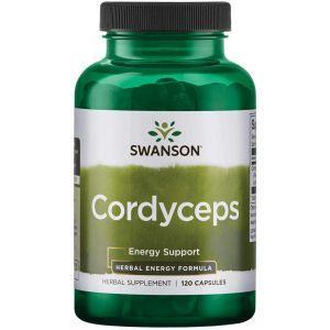 Кордицепс, Cordyceps, Swanson, 600 мг, 120 капсул