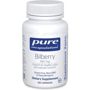Экстракт Черники, Bilberry, Pure Encapsulations, 160 мг, 120 капсул