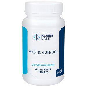 Поддержка пищеварения, Mastic Gum/DGL, Klaire Labs, вкус корицы, 60 жевательных таблеток