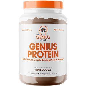 Сывороточный протеин + казеин, Genius Protein, Genius, вкус какао, порошок, 959 г