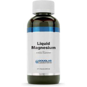 Магний, поддерживает сердце, кости и ферментативную функцию, Liquid Magnesium, Douglas Laboratories, 240 мл.