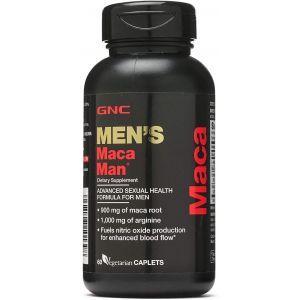 Формула для сексуального здоровья у мужчин, Men's Maca Man, GNC, 60 вегетарианских капсул
