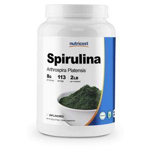 Спирулина, Spirulina, Nutricost, порошок, 907 г