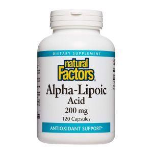 Альфа-липоевая кислота, Alpha-Lipoic Acid, Natural Factors, 200 мг, 120 капсул (Default)