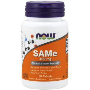 Аденозилметионин, SAM-e, Now Foods, 400 мг, 30 табл.
