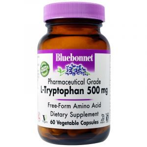 L-триптофан, L-Tryptophan, Bluebonnet Nutrition, 500 мг, 60 капсул (Default)