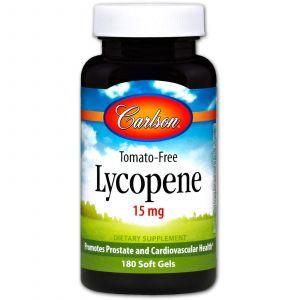 Ликопин (Lycopene), Carlson Labs, 15 мг, 180 гелевых капсул