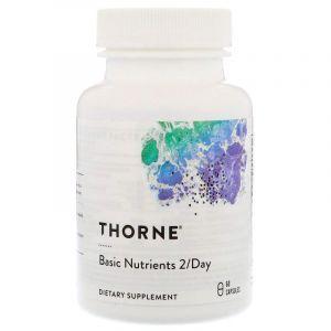 Мультивитамины без железа, Basic Nutrients 2/Day, Thorne Research, 60 капсул (Default)