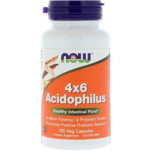 Пробиотики, 4x6 Acidophilus, Now Foods, 120 капсул (Default)