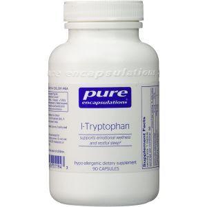 L-триптофан, l-Tryptophan, Pure Encapsulations, 90 капсул