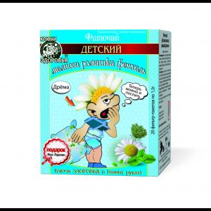 Фиточай, Ключи здоровья, мелисса/ромашка/фенхель, детский, 20 фильтр-пакетов по 1.5 г