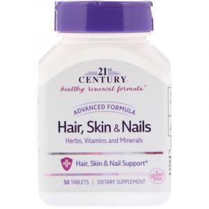 Витамины для кожи и волос, Hair, Skin & Nails, 21st Century, 50 таблеток (Default)