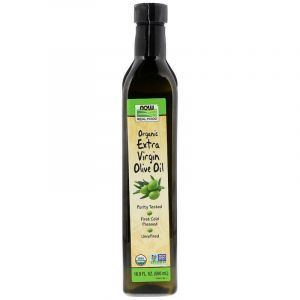 Оливковое масло экстра, Real Food, Organic Extra Virgin Olive Oil, Now Foods, 500 мл