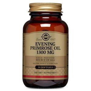 Масло вечерней примулы, Evening Primrose Oil, Solgar, 1300 мг, 30 капсул