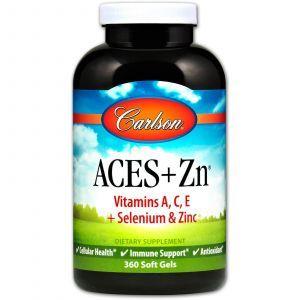 Витамины А, С, Е плюс цинк, Carlson Labs, 360 капсул