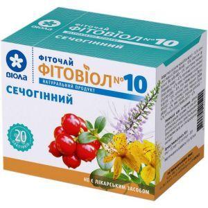 Фитовиол №10 мочегонный, фиточай, Виола, 20 пакетиков по 1.5 г