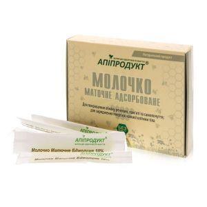 Пчелиное маточное молочко адсорбированное, Royal jelly adsorbed, Апипродукт, 25 саше.