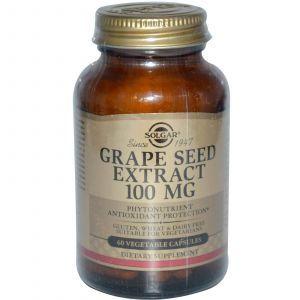 Экстракт виноградных косточек, Solgar, 60 капсу