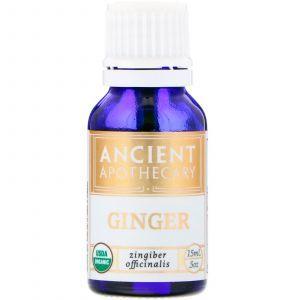Эфирное масло имбиря, Ginger, Ancient Apothecary, 15 мл