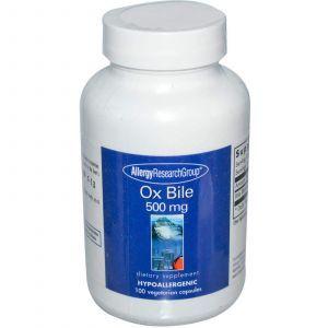 Экстракт бычьей желчи, Allergy Research, 500 мг, 100 к