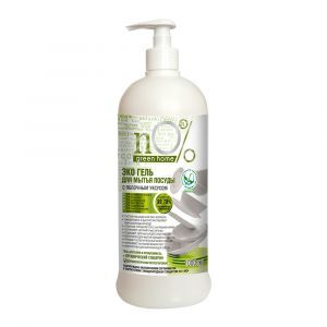 Эко-гель для мытья посуды с яблочным уксусом, nO% Green Home, 1000 мл