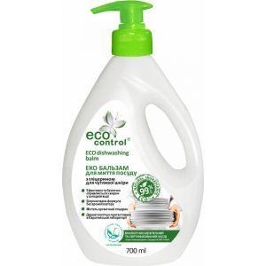Бальзам для мытья посуды с глицерином для чувствительной кожи, ECO Control, 700 мл