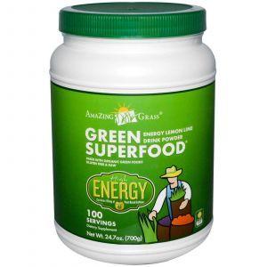 Зеленая пища (лимон), Энергия, Amazing Grass, 700