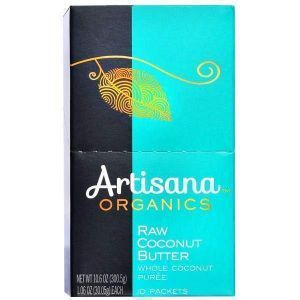 Кокосовое масло, Artisana, 10 пакетиков по 30,05 г.