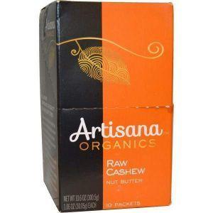 Масло орехов кешью, Artisana, 10 пакетиков по 30,05 г.