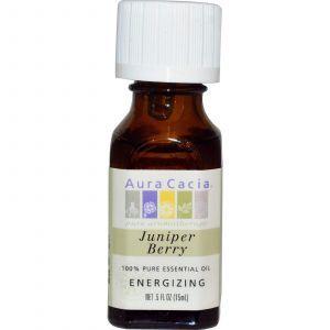 Чистое эфирное масло ягод можжевельника, Aura Cacia, 15 мл